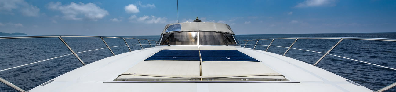Fractional ownership yacht looking to sea