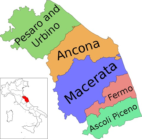 Provinces of Le Marche Italy